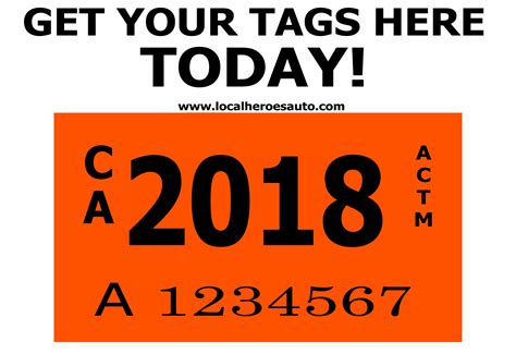 Orange Registration Sticker the orange dmv tags sign is back dmv services at