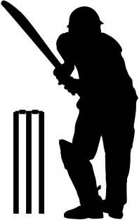 cricket player silhouette free vector silhouettes