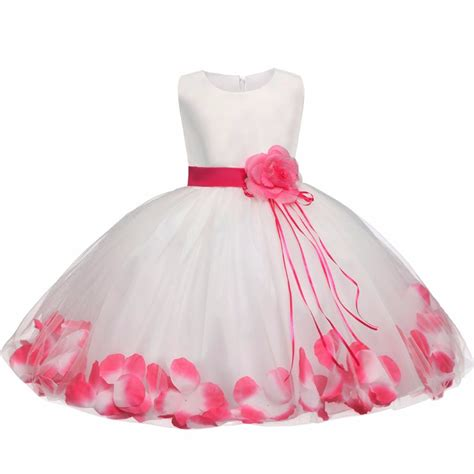 baby dress tutu flower baby dress for wedding sleeveless infant baby petal dresses for 1 years