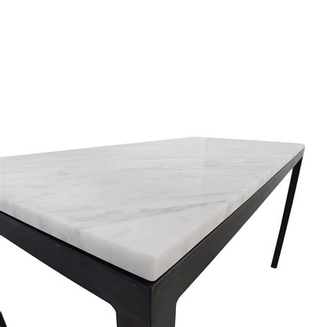room and board parsons table 56 room and board room board white venatino marble parsons table tables