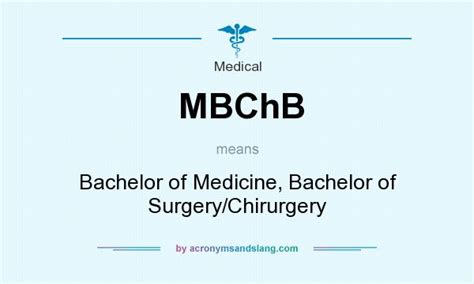 what does mbchb definition of mbchb mbchb stands