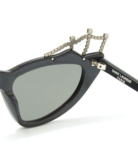 Fendi Tiara laurent black sl 122 tiara sunglasses in black lyst