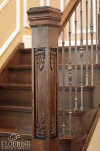 Stair Post Newel Post Collection Flora Fauna Style Acanthus