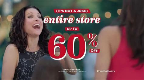 xq commercial actress old navy tv commercial no joke featuring julia louis
