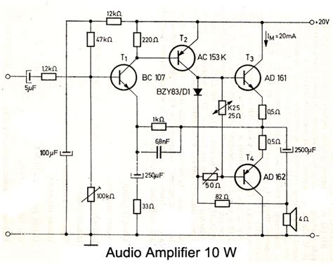 germanium transistor headphone lifier audio schematics