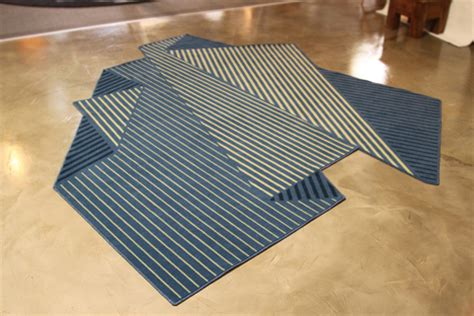Origami Illusions - origami illusion rug not for the obsessive rug straightener