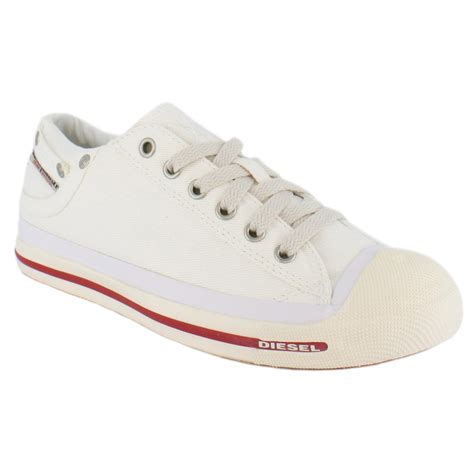 diesel exposure low white new unisex trainers shoes ebay