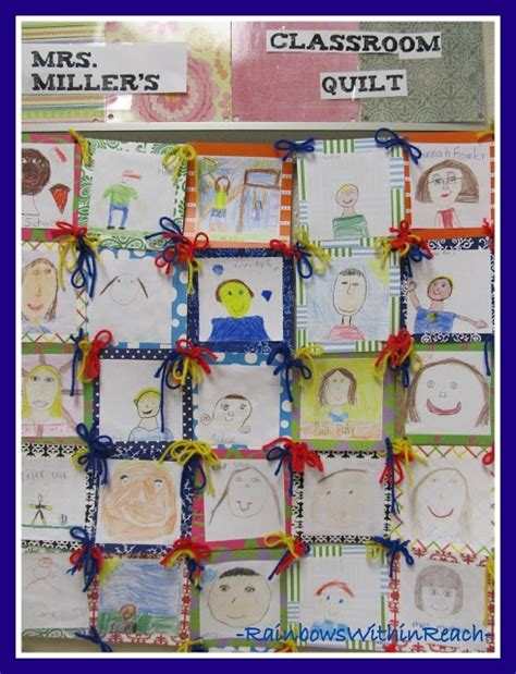 bettdecke zeichnung quilts in the classroom the children draw and color a