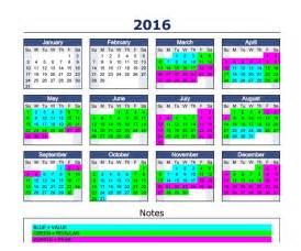 Disneyland Calendar 2016 Disneyland Tiered Pricing Calendar Talkdisneytome