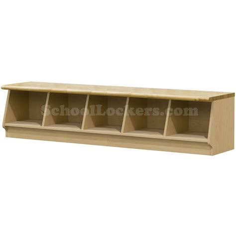 cubbie bench wood laminate cubbie bench with 5 cubbies schoollockers com