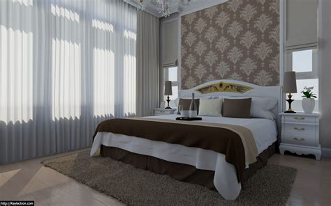hotel room curtains raylectron render and animation photorealistic 3d