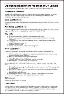 Operating Department Practitioner Sle Resume operating department practitioner cv sle myperfectcv