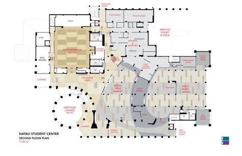 student center floor plan second floor plans natali student center pinterest