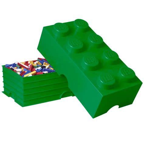 Lego Storage Brick 8 Blue Dc001029 lego colourful plastic large stackable storage brick 8 box pink yellow green blue