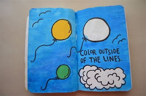 color outside of the lines wreck this journal