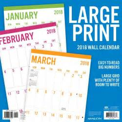 Calendar 2018 Large Print Large Print 2018 Wall Calendar 788958823888 Calendars