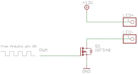 transistor mosfet pwm starlight dimming a 12v led with a mosfet and pwm