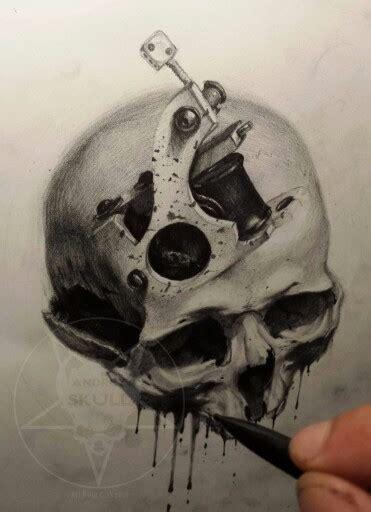 tattoo gun skull skull machine tattoo gun tattoo pinterest tattoo