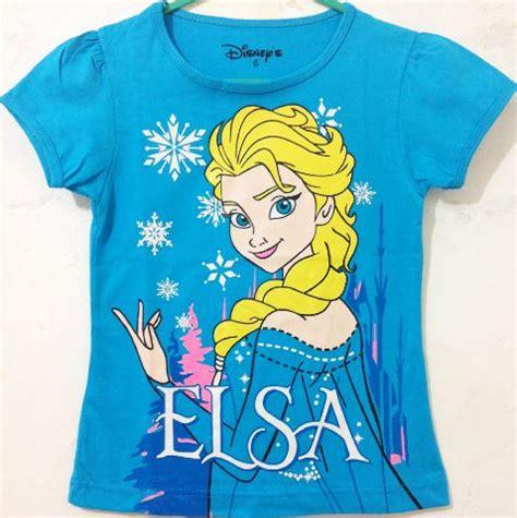 Kaos Elsa Frozen Murah baju anak elsa frozen blue kuning 1t 6t grosir eceran