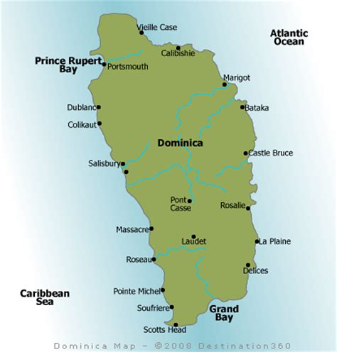 dominica map map of dominica dominica island map