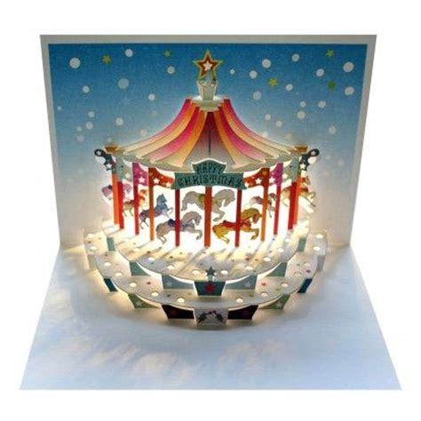 diy carousel pop up card template carousel amazing pop up greeting card pop up
