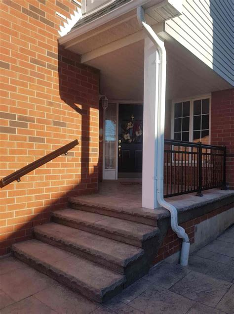 commercial aluminum railing systems handrails  height