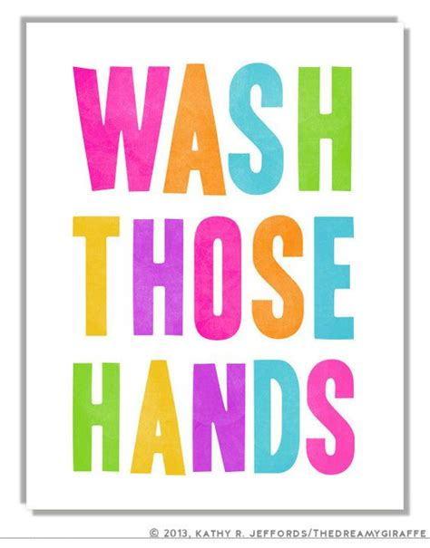 bathroom signs wash your hands kid s bathroom art wash your hands print colorful bathroom