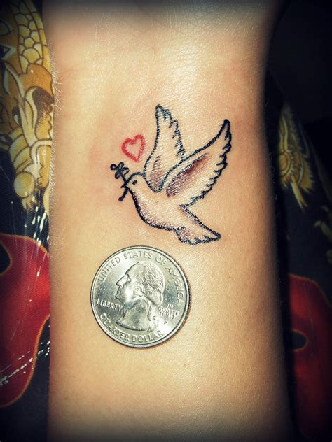 small dove wrist tattoos dove by sicklygoregous deviantart on