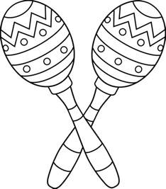Maracas Coloring Pages two maracas line free clip