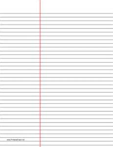 printable law ruled paper black lines