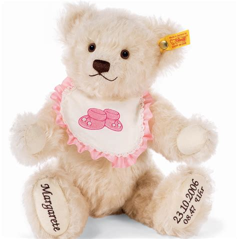 personalised steiff bear teddy baby boy with litle pups