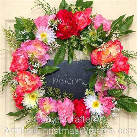 spring butterfly wreath artificialchristmaswreaths com peony wreath artificialchristmaswreaths com spring