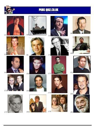 quiz themed rounds famous davids picture quiz pubs quiz