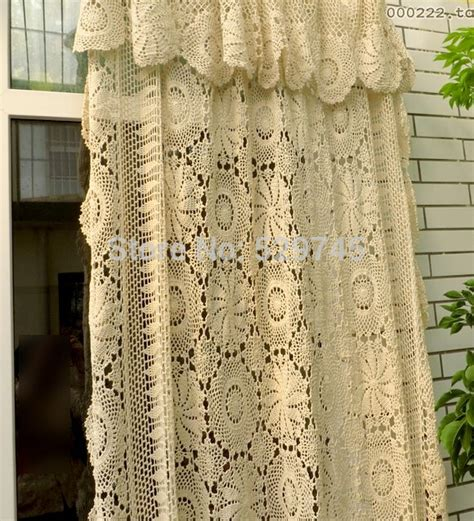 european lace curtains aliexpress com buy handmade crochet flowers woven cotton