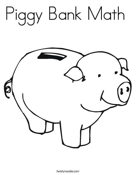 Piggy Bank Coloring Page piggy bank math coloring page twisty noodle