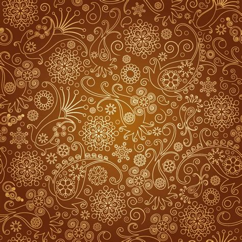 design batik photoshop brown floral background pattern free vector 365psd com