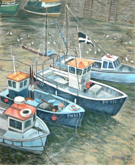 fishing boat artists david harrison cornish fishing boats artists