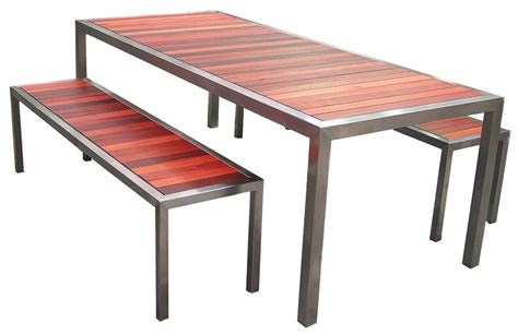 outdoor bench seat and table inlet bench table and seat setting slats crossways anlee