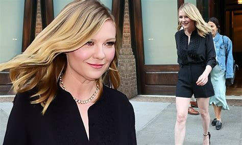 Ill What Shes Kirsten Dunst And Uberlube by Kirsten Dunst Wears Black Shorts In Nyc Daily Mail