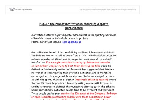 thesis about motivation in education intrinsic motivation free essay