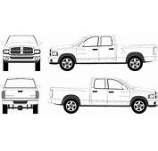 2003 Dodge Ram 1500 Crew Pickup Truck Blueprints Free