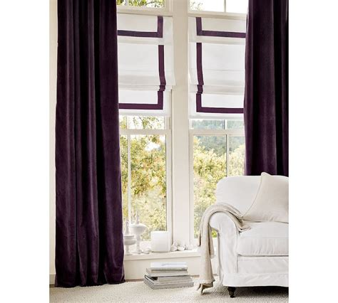 pottery barn velvet drapes cococozy design on sale daily perfectly purple window