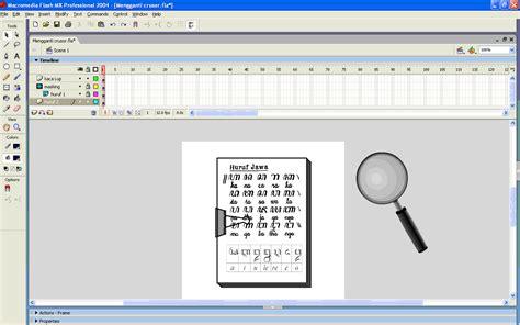 tutorial membuat jam digital macromedia flash professional mengganti crusor mouse dengan symbol pada flash all