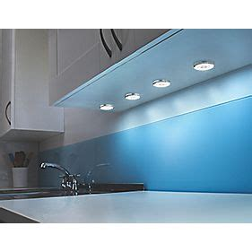 screwfix kitchen lights circo disk led cabinet downlight chrome effect 4 pack