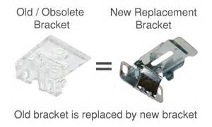 Louvre Drape Obsolete Bracket Replacements