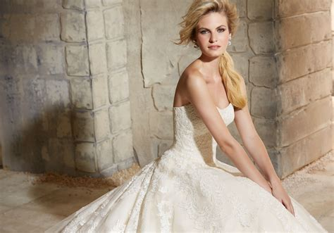 Wedding Dresses Style 2787 by Delicate Beaded Lace On Tulle Wedding Dress Style 2787