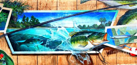 fishing wall murals bass fishing wall mural by cuthbertson