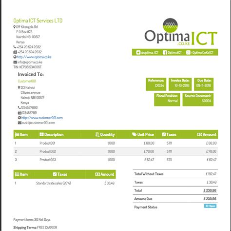 template invoice odoo accounting gt multiple professional customizable invoice