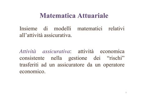 dispense matematica finanziaria matematica attuariale dispense
