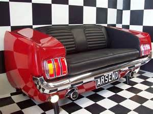 muscle car couches muscle car couch love it i would put it in the garage